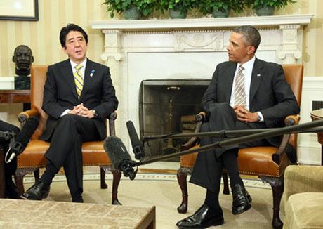 今年2月に行われた安倍首相とオバマ大統領の会談