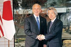 小泉首相とブッシュ大統領