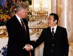 橋本首相とクリントン大統領